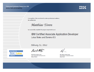 IBM Certified Associate Application Developer Lotus Notes and Domino 8.5