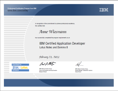 IBM Certified Application Developer Lotus Notes and Domino 8