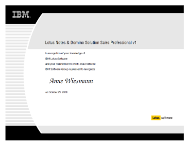 IBM Lotus Notes & Domino Technical Sales Professional v1