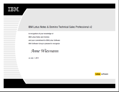IBM Lotus Notes & Domino Technical Sales Professional v2